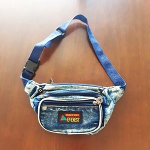 Vintage Everest Denim Fanny Pack
